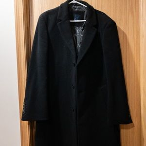 Men's long pea coat